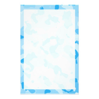 Baby Blue Camo; Camouflage Stationery