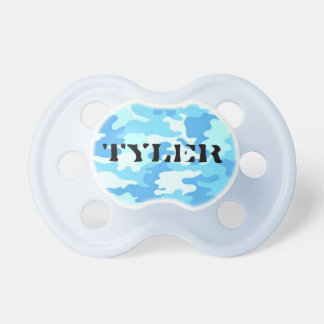 Baby Blue Camouflage Pacifier