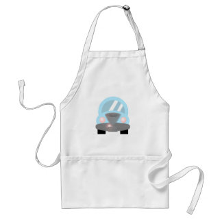 Baby Blue Car Adult Apron