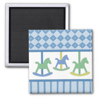 Baby Blue Carousel Collection Magnet