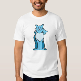 Baby Blue Cat with Papoose T-Shirt