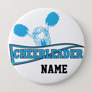 Baby Blue Cheerleader | Personalize Button