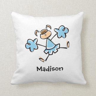 Baby Blue Cheerleader Throw Pillows