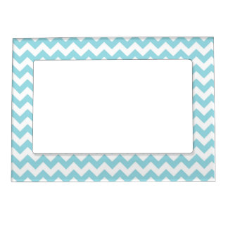 Baby Blue Chevron Magnetic Picture Frame