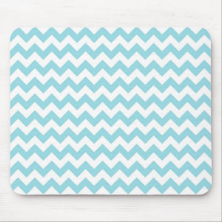 Baby Blue Chevron Mouse Pad