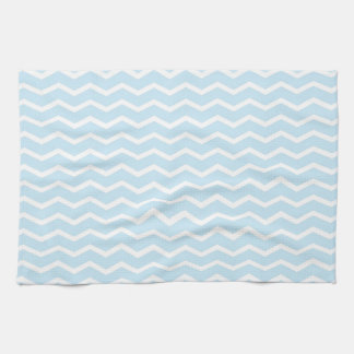 Baby Blue Chevron Pattern Hand Towels