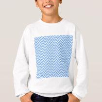 Baby Blue Chevron Pattern Sweatshirt