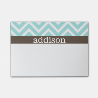 Baby Blue Chevron Stripes Post-it® Notes
