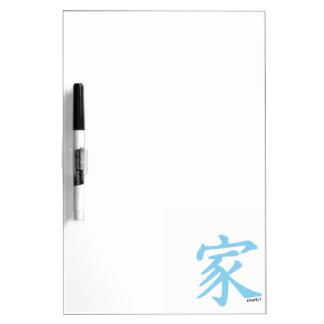 Baby Blue Chinese Family symbol Dry-Erase Whiteboards