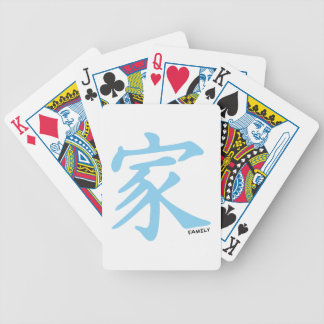 Baby Blue Chinese Family symbol Bicycle Playing Cards