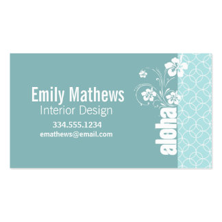 Baby Blue Circles; Aloha Double-Sided Standard Business Cards (Pack Of 100)