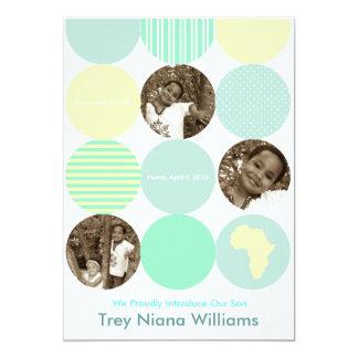 Baby Blue Circles Card