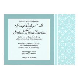 "Baby Blue Circles 5"" X 7"" Invitation Card"