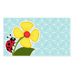 Baby Blue Circles; Ladybug Double-Sided Standard Business Cards (Pack Of 100)