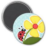 Baby Blue Circles; Ladybug Magnet