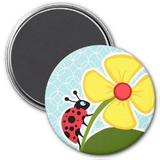 Baby Blue Circles Ladybug Magnet