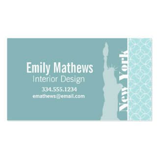Baby Blue Circles; New York Business Card