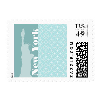 Baby Blue Circles; New York Postage Stamps