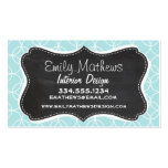 Baby Blue Circles; Vintage Chalkboard Business Card Templates