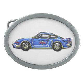 Baby Blue Classic Car Belt Buckle