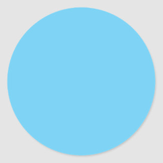 Baby Blue Classic Round Sticker