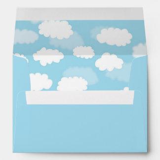Baby Blue Clouds Sky Envelope Liner Envelopes