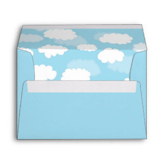Baby Blue Clouds Sky Envelope Liner Envelopes