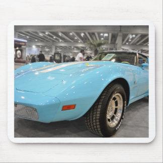Baby Blue Corvette Photo Mousepads