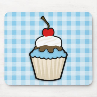 Baby Blue Cupcake Mouse Pad