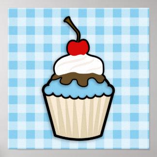 Baby Blue Cupcake Poster