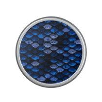 Baby Blue Dark Blue Abstract Pattern Speaker