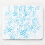Baby Blue Doodle Mousepad