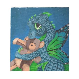 baby blue dragon fairy butterfly teddy bear night note pad