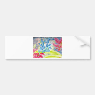baby blue dragon fairy flower lily storm lightning bumper sticker