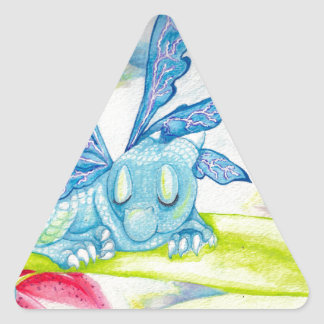 baby blue dragon fairy flower lily storm lightning triangle sticker