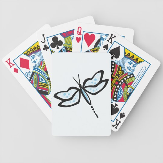 Baby Blue Dragonfly Bicycle Playing Cards