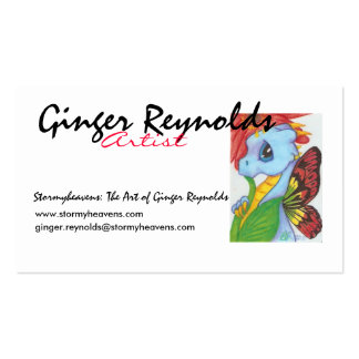 Baby Blue Dragonfly Buisness Card