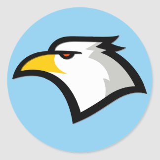 Baby Blue Eagle Classic Round Sticker