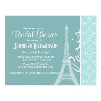 Baby Blue Eiffel Tower; Paris Postcard