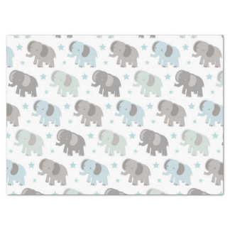 "Baby Blue Elephant 17"" X 23"" Tissue Paper"