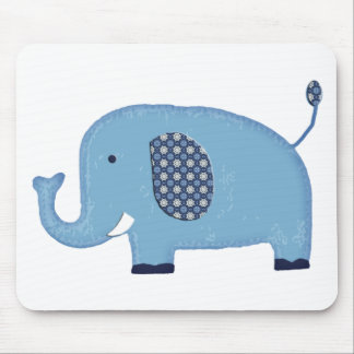 Baby Blue Elephant Mouse Pad