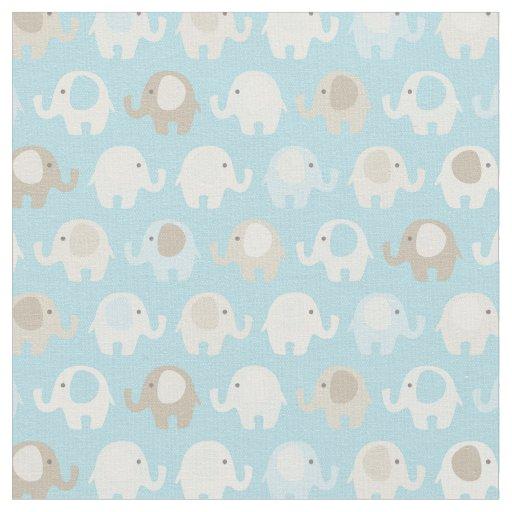 Baby blue elephant pattern fabric zazzle for Baby fabric uk