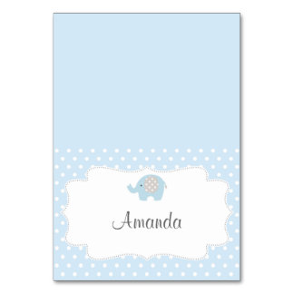 Baby Blue Elephant Place Card