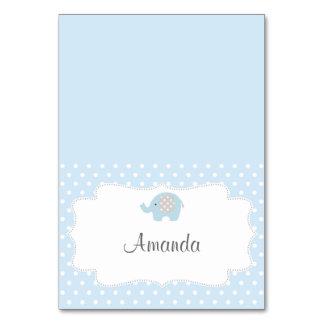 Baby Blue Elephant Place Card
