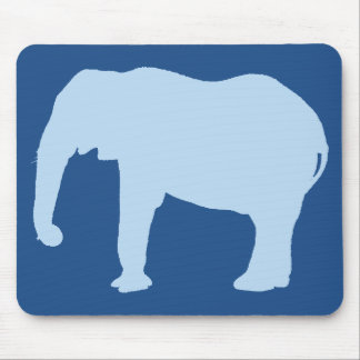 Baby Blue Elephant Silhouette Mouse Pad