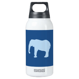Baby Blue Elephant Silhouette Thermos Bottle