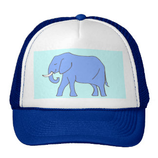 Baby Blue Elephant Walking Trucker Hat