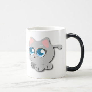 Baby Blue Eyed Round Kitten Magic Mug