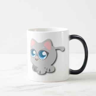 Baby Blue Eyed Round Kitten Magic Mug