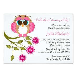 Baby Blue Eyes Owl Baby Shower Invitation
